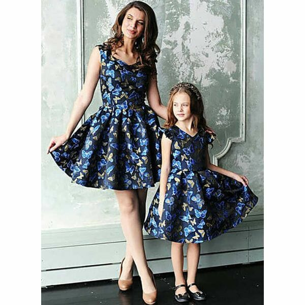 Mommy and Me Animal Casual Cap Sleeve Family Outfits (30245603167)