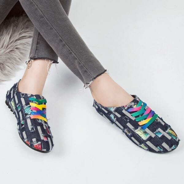Denim Shoes With Lace-up (30485612354)