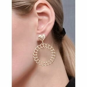 Casual Round No Stone Dangle Earrings (1855601118)