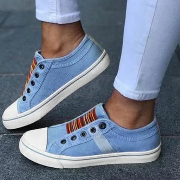 Denim Shoes With Lace-up (30485614946)
