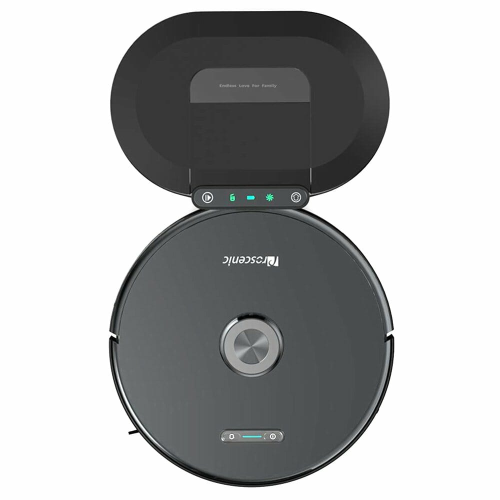 Proscenic M8 Pro Smart LDS Robot Vacuum Cleaner with Laser Navigation 2700Pa Suction 5200mAh Battery 2 in 1 Mopping and Sweeping APP Remote Control + Dust Collector - Black