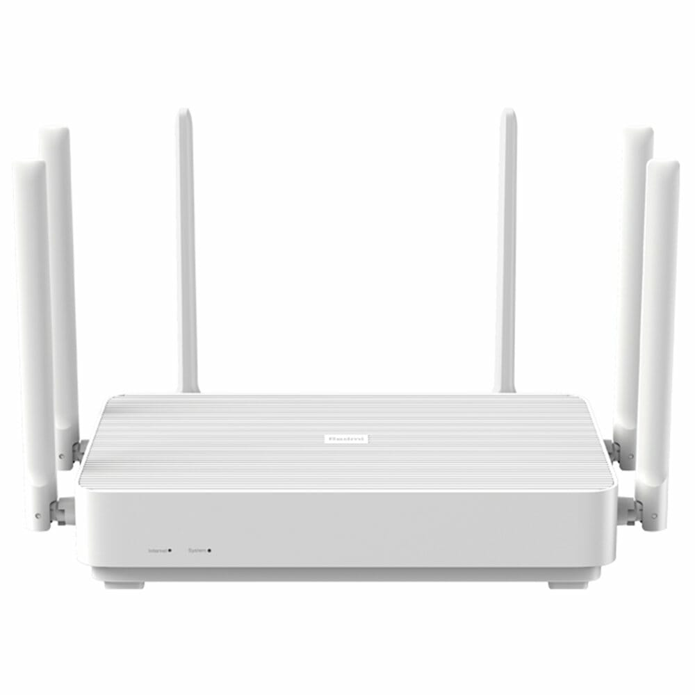 Xiaomi Redmi AX6 Router 6 Core WiFi 6 Dual Band Wireless WiFi Router Support Mesh OFDMA 2976MBps 6xAntennas 512MB Wireless Signal Booster Children Protection - White