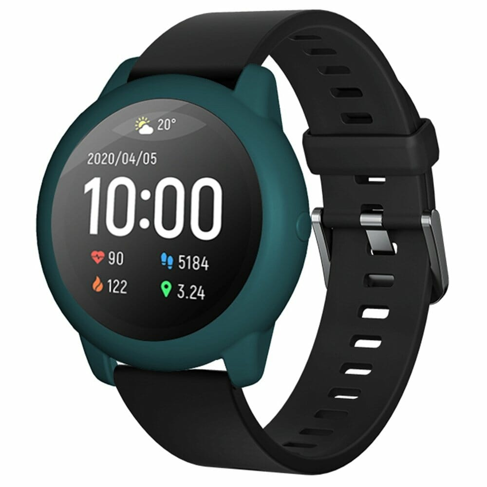 Soft Silicone Protective Shell For Xiaomi Haylou Solar LS05 Smartwatch - Dark Green