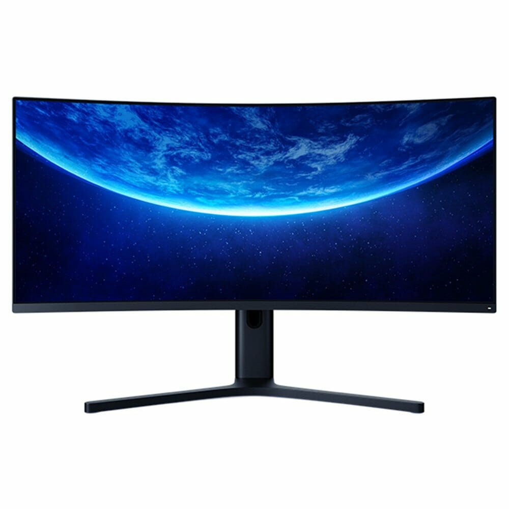 Original Xiaomi Curved Gaming Monitor 34 Inch 21:9 Bring Fish Screen 144Hz High Refresh Rate 1500R Curvature WQHD 3440*1440 Resolution 121% sRGB Wide Color Gamut Free-Sync Technology Display - Black
