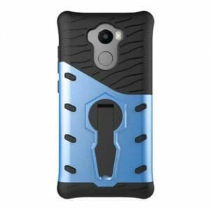 Armour Series Protective Phone Case 360 Degree Rotating Bracket Stand Cover For Xiaomi Redmi 4/4 Pro- Blue