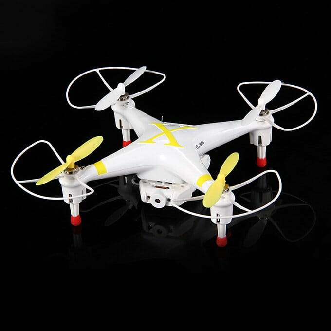 Cheerson CX-30W 4-Axis 2.4GHz Mid Size FPV Quadcopter with 0.3MP Camera WiFi IR Remote Control R/C Version - Yellow