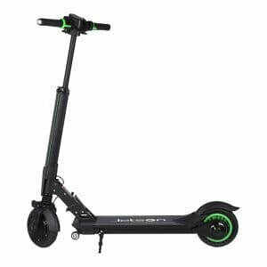 E1 Portable Folding Electric Scooter 8.5-inch Tires 300W Motor Max 25km/h 7.5Ah Battery - Green