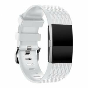 Replacement Silicone Band Strap For Fitbit Charge 2 Smart Bracelet - White
