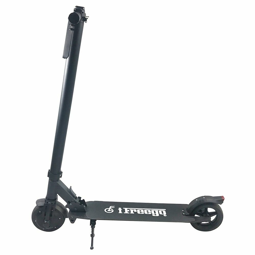 Freego ES-06C Folding Electric Scooter 350W Motor 5.2Ah LCD Display Screen 6.5 Inch Tire - Black