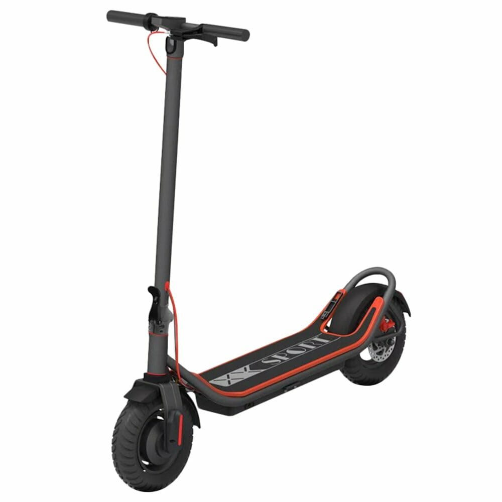 Freego EX-08S-10E Folding Electric Scooter 350W Motor 10Ah LCD Display Screen 10 Inch Tire - Black