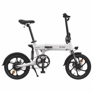 HIMO Z16 Folding Electric Bicycle 250W Motor Up To 80km Range Max Speed 25km/h Removable Battery IPX7 Waterproof Smart Display Dual Disc Brake CN Version - White