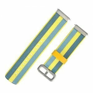 Replacement Canvas Stylish Watch Bracelet Strap Nylon Band 20mm For Xiaomi Huami Amazfit Bip Smartwatch - Yellow