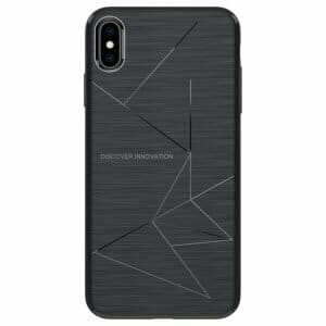 NILLKIN Rugged Leather Phone Case for iPhone X/XS - Black