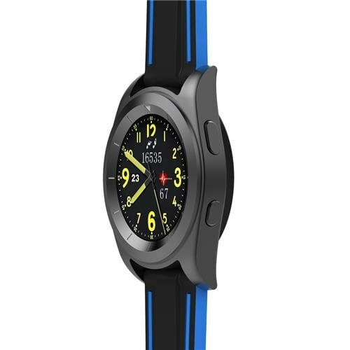 NO.1 G6 (EU/US Languages) Bluetooth 4.0 Smart Watch MTK2502 Heart Rate Monitor Sports Fiteness Tracker for Android iOS (TPU Strap) - Black