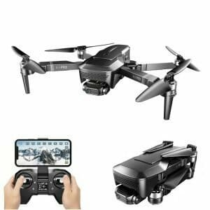 VISUO K1 Pro 4K Servo HD Camera GPS 5G WIFI FPV with 2-Axis Mechanical Gimbal Brushless RC Drone RTF - Two Batteries with Bag