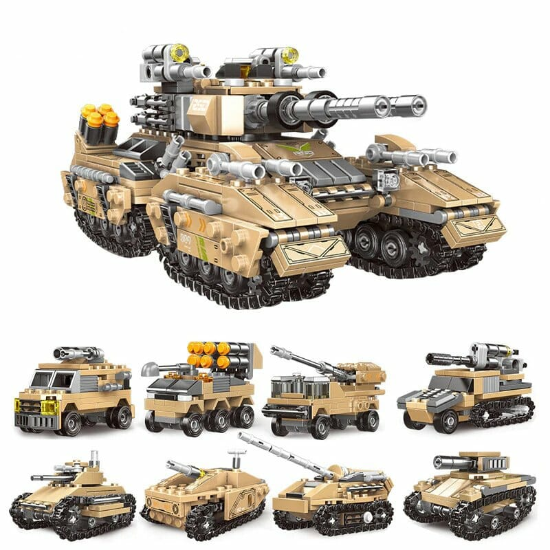 XINGBAO 13005 8 in 1 Building Block Mirage Tank Puzzle Toys