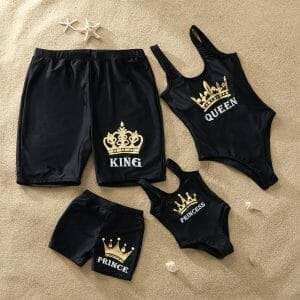 King and Queen Printed Matching Swimsuits